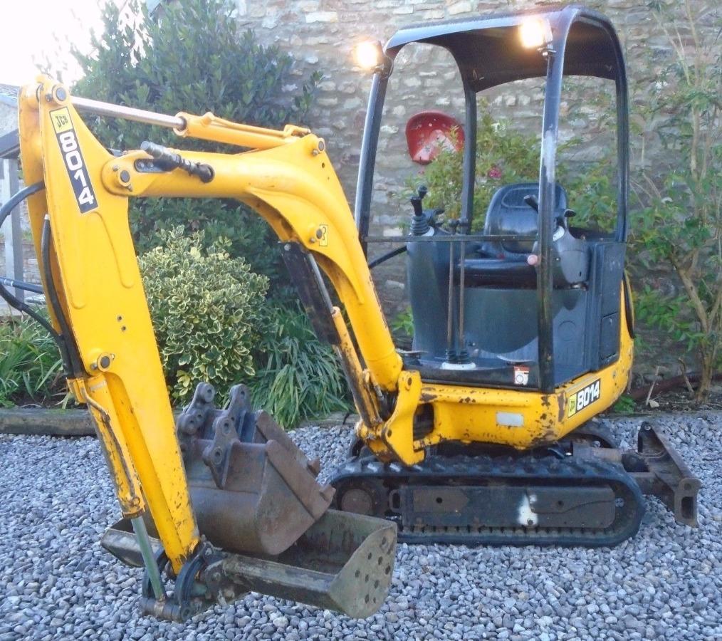 digger bidder jcb 801 4 mini excavator 2007 3 buckets. Black Bedroom Furniture Sets. Home Design Ideas