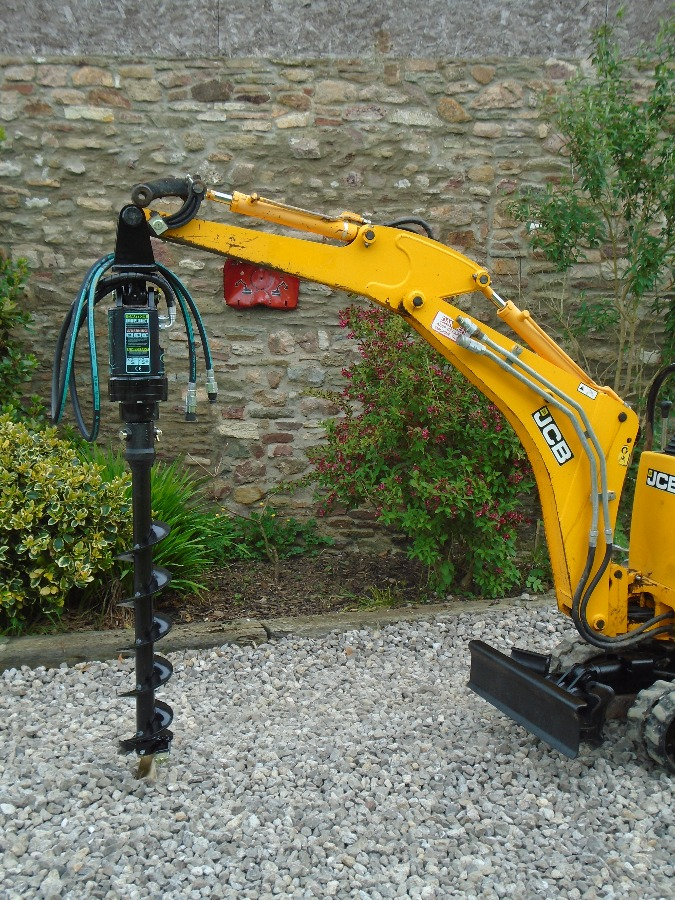 Digger Bidder - EARTH DRILL HYDRAULIC AUGER - MINI/MICRO DIGGER