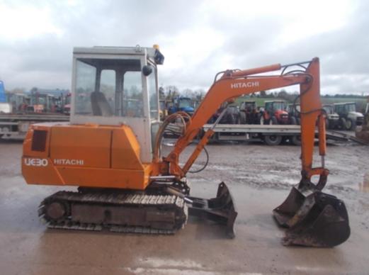 Digger Bidder - Hitachi UE30 mini excavator -- 2 7 tonne